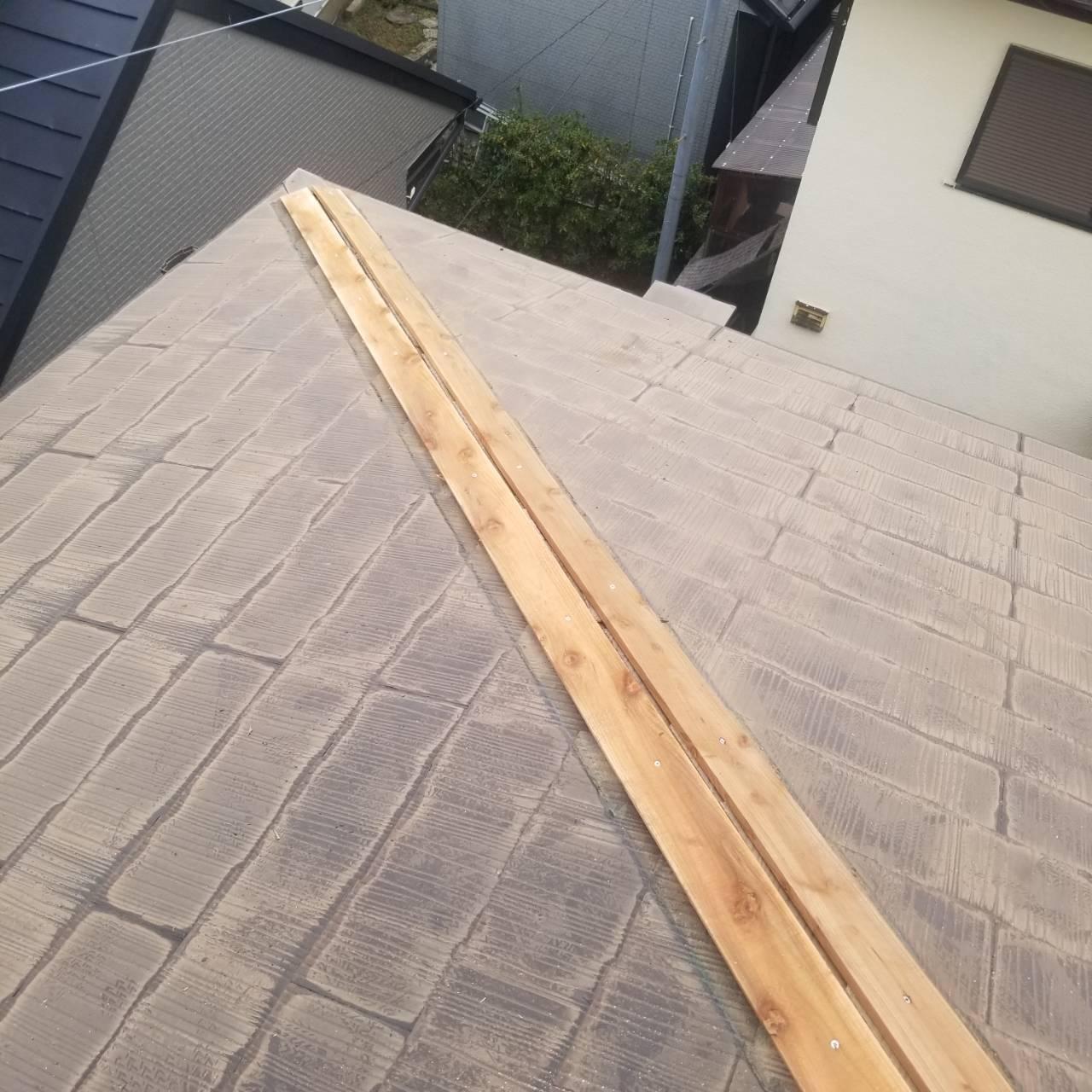 新規貫板施工後