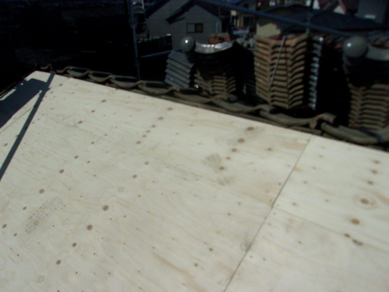 野地板施工後