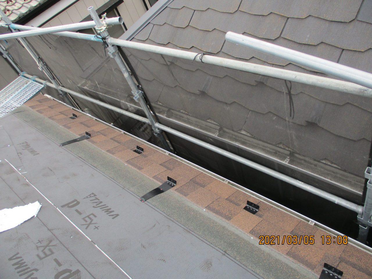 新規屋根材 及び 雪止め施工