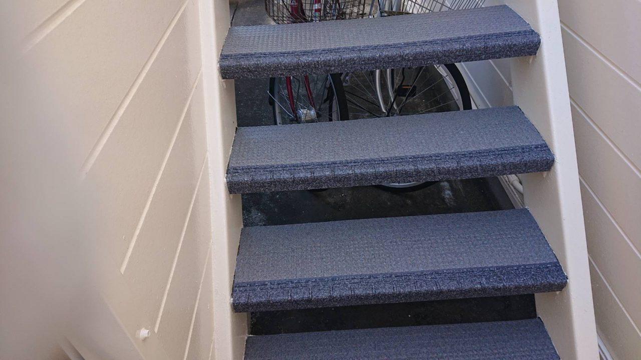 階段用床材「タキステップ」施工