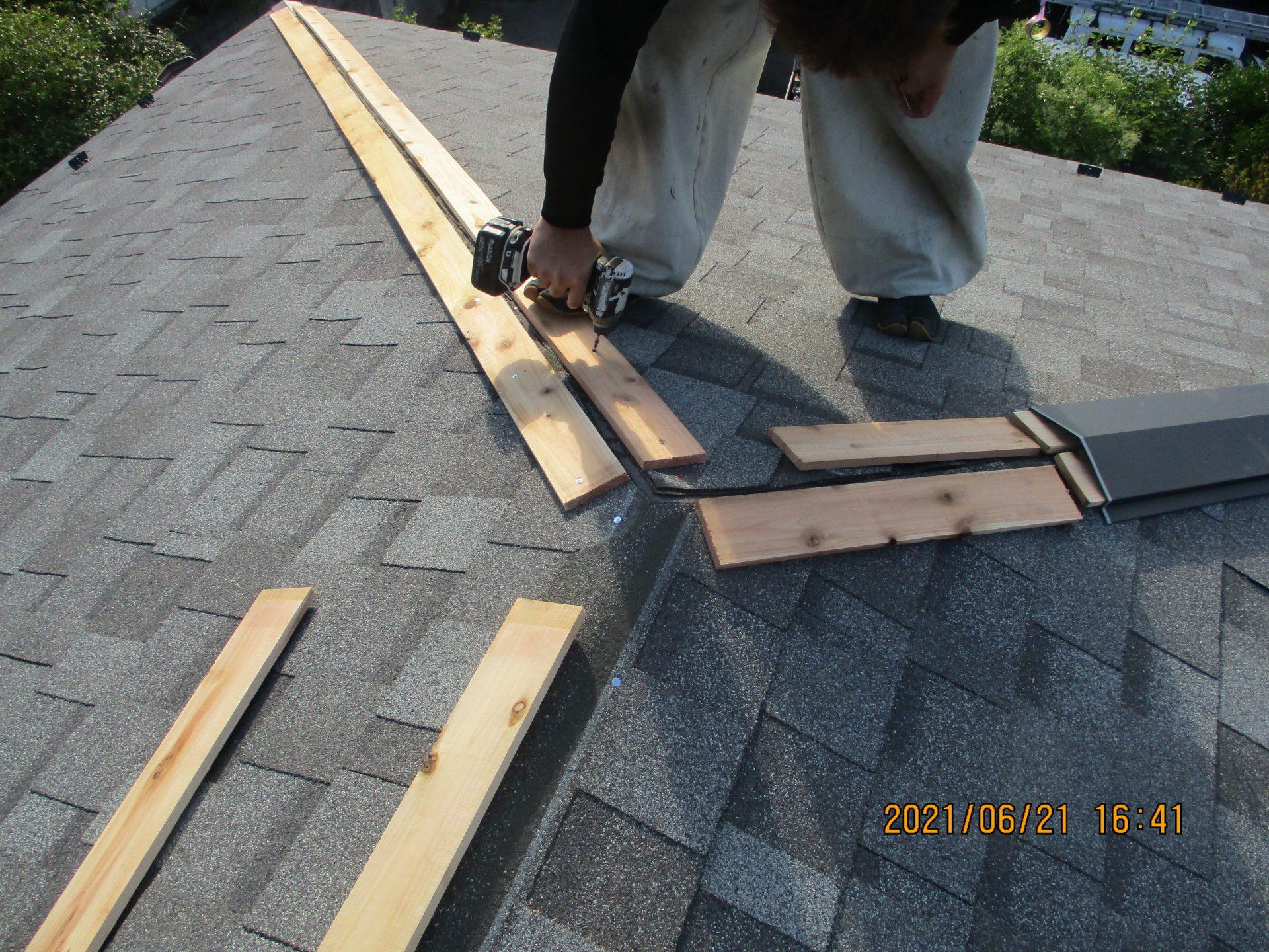 貫板及び板金施工