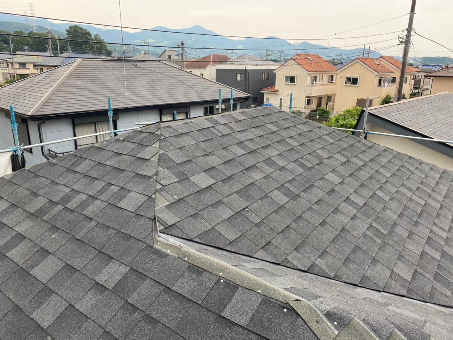 屋根材施工後