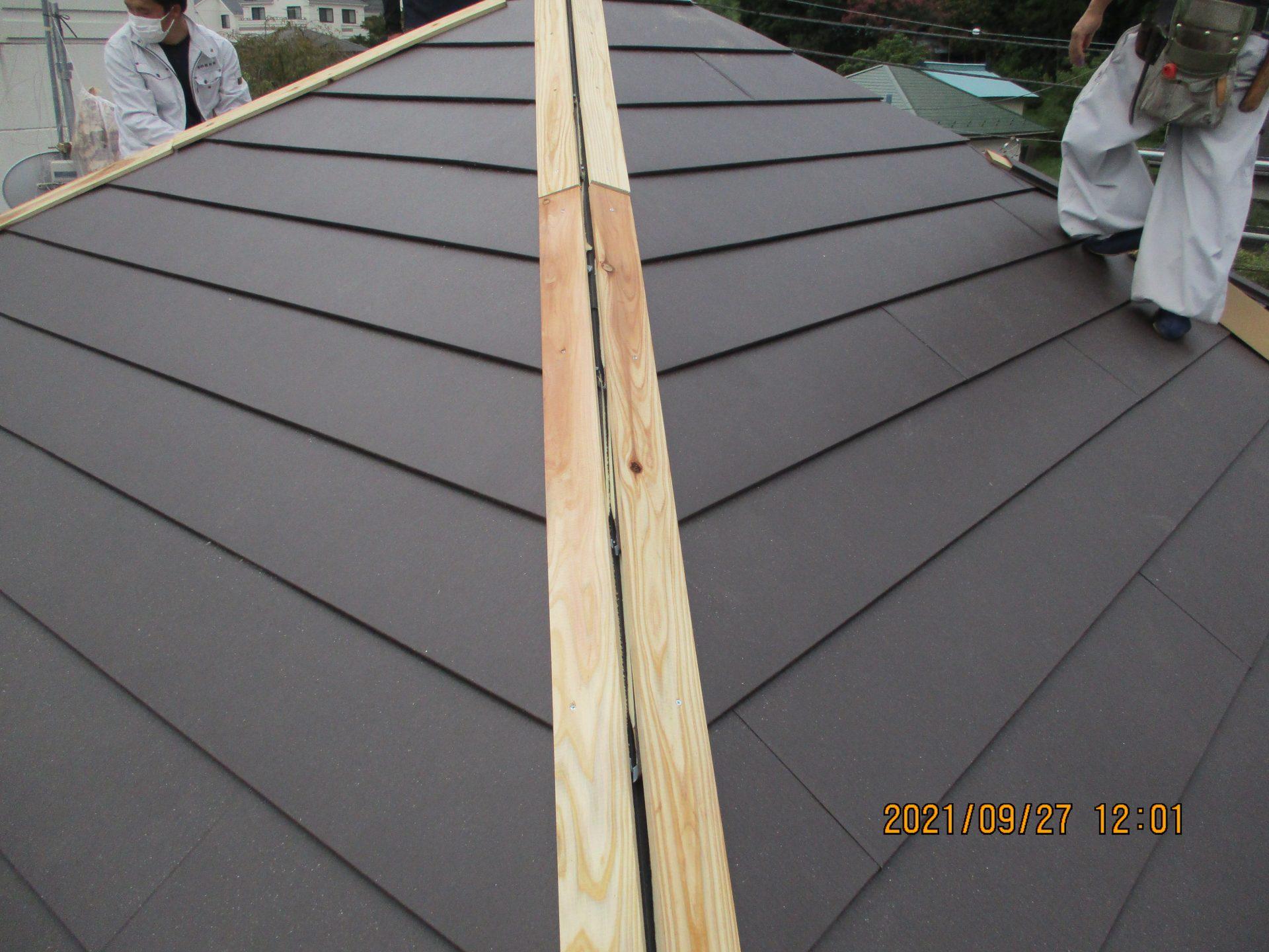 新規貫板施工